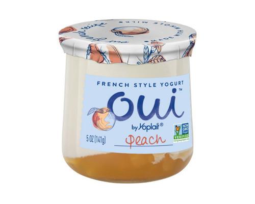 Yoplait Oui Peach Yogurt • 5 oz