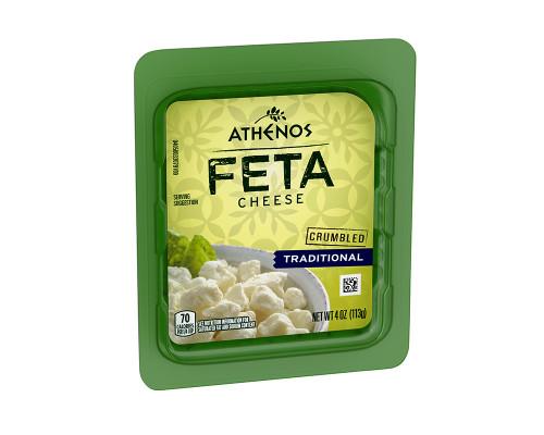 Athenos Traditional Crumbled Feta Cheese • 4 oz