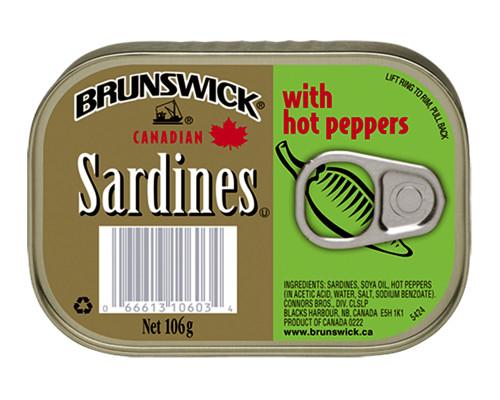 Brunswick Sardines Hot Pepper • 106 g
