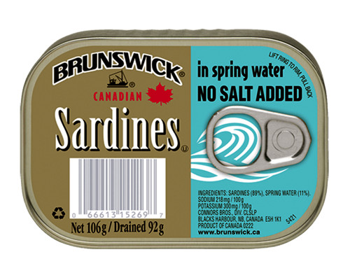 Brunswick Sardines No Salt • 106 g