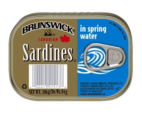 Brunswick Sardines Spring Water • 106 g