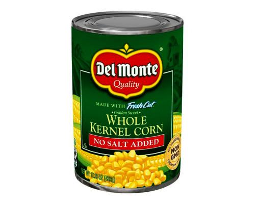 Del Monte Whole Kernel Corn - No Salt • 15.25 oz
