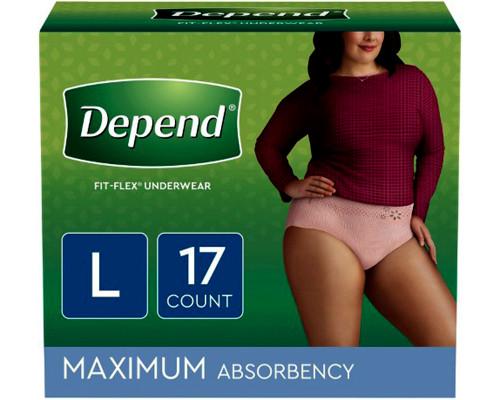 Depend Underwear for Women L - 17 ct