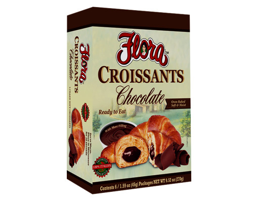 Flora Croissants Chocolate - 6 ct • 1.59 oz