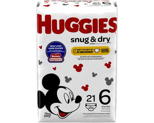 Huggies Snug And Dry S6 - 21ct