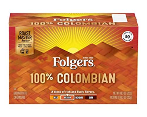 Folgers 100% Colombian Medium Blend - Bag • 10.3 oz