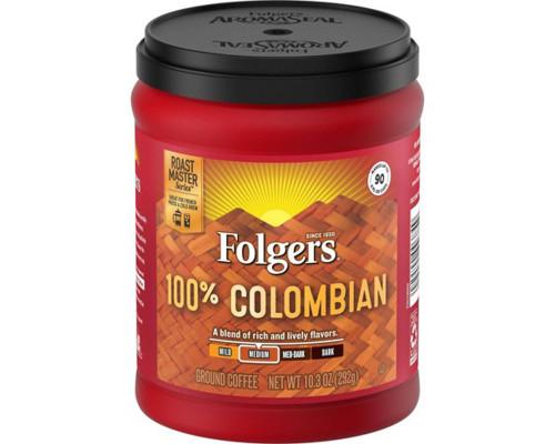 Folgers 100% Colombian Medium Blend - Can • 10.3 oz