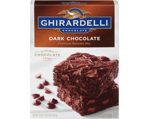 Ghirardelli Dark Chocolate Brownie Mix • 20 oz