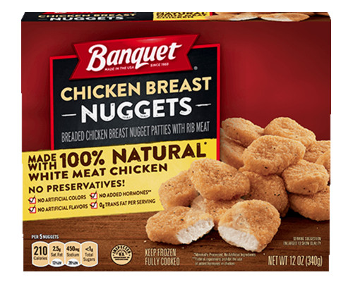 Banquet Chicken Breast Nuggets • 12 oz