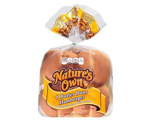 Nature's Own Hamburger Butter Buns - 8 ct • 16 oz