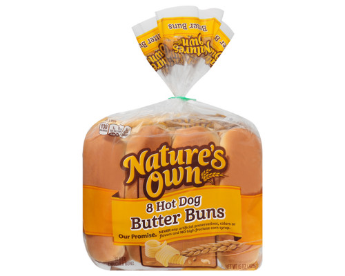 Nature's Own Hot Dog Butter Buns - 8 ct • 15 oz