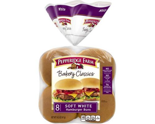 Pepperidge Farm Hamburger Soft White Buns - 8 ct • 14.5 oz