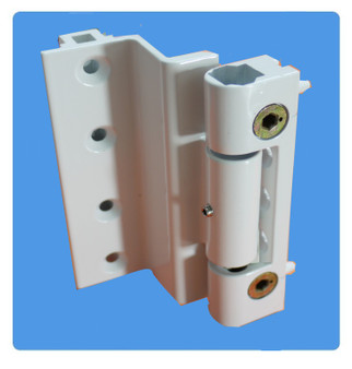 White Challenger rebated Door hinge