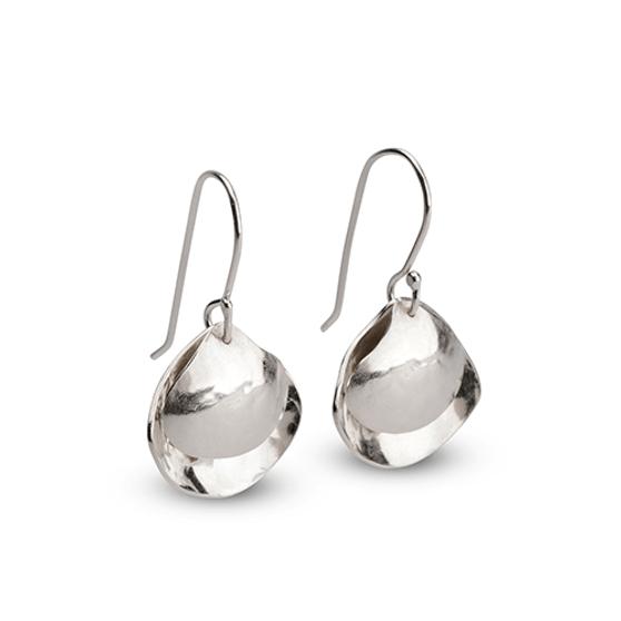 Sterling Silver Cockle Earrings