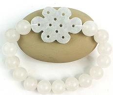 White Jade Mystic Knot Bracelet Mystical & Healing Properties