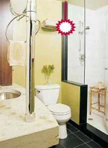 Cure a visible Toilet by hanging a Crystal Ball.