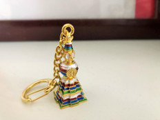 Kalachakra Stupa Keychain for Wealth  & Protection