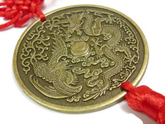 Dragon Phoenix  Coin Charm