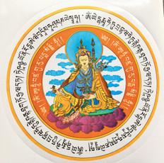 GURU RINPOCHE AMULET STICKER - 2 stickers