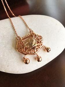 Wealth Lock Necklace 14 K Rose Gold