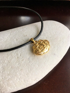 14 K  Wealth Lock Symbol Pendant