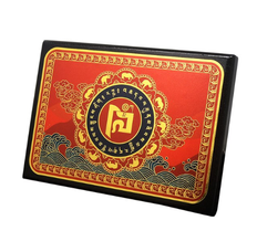 Rhino and Elephant Anti Robbery Plaque with Mantra