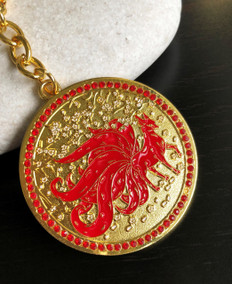 9 Tailed Red Fox Amulet to attract money luck