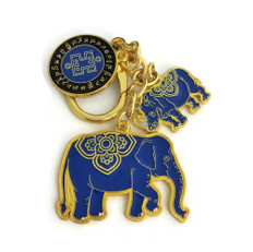 Anti Robbery Amulet with Blue Rhino & Elephant