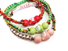 Lucky Cat Bracelets Assorted Colors
