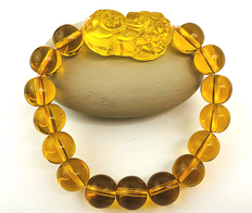 PI YAO Citrine Bracelet for Protection and Wealth