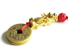 Pixu 5 Coins Charm for Luck & Protection