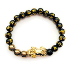Feng Shui Black Obsidian Bracelet  for Success and Wealth -FREE SHIPPING
