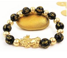 FAVORITE** Good Fortune & Wealth  Obsidian Bracelet - FREE SHIPPING