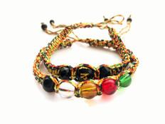 2 Bracelets - OM Symbol & 5 Elements