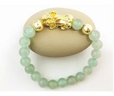 Feng Shui Wealth Bracelet Jadeite & 18K Gold