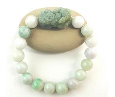 Pixiu Jade Bracelet for Good Luck & Protection