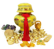 """NEW""  Auspicious Wealth Vase"