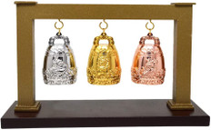 Feng Shui Three Celestial Divine Guardians Bells with Stand