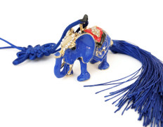 Car Amulet Anti- Burglary  Blue Elephant