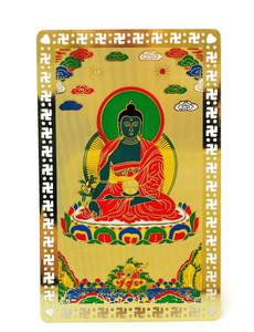 Medicine Buddha Metal Card