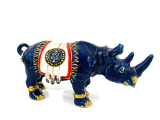 Blue Rhino  with Talisman Feathers & Ant robbery Amulet