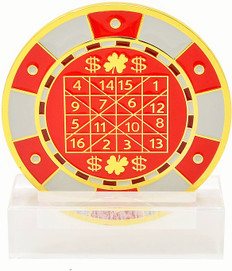 Feng Shui Number Winning-Chip Red Digit Mirror