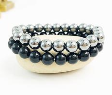 Healing Hematite & Obsidian Bracelet