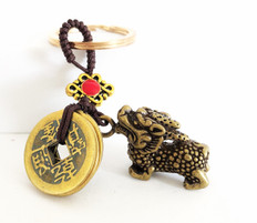 Pi Yao -Five Coins  Keychain for Protection & Good Luck
