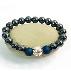 999 Silver Money Ball Bracelet