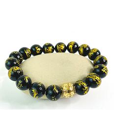 18K Gold Dragon Money Ball Bracelet