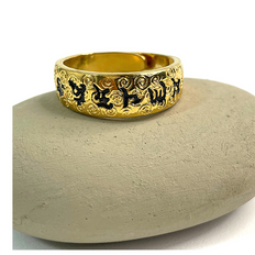 Six Words Mantra Ring