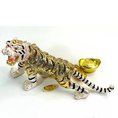Bejeweled Tiger w/Gold Ingots
