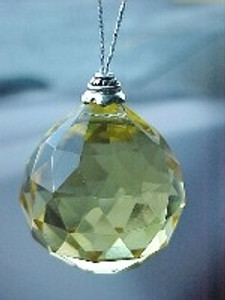 Crystal 30mm Yellow Color for Health Area- Ready to hang
