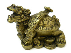 Feng Shui Dragon Turtle with Ruyi